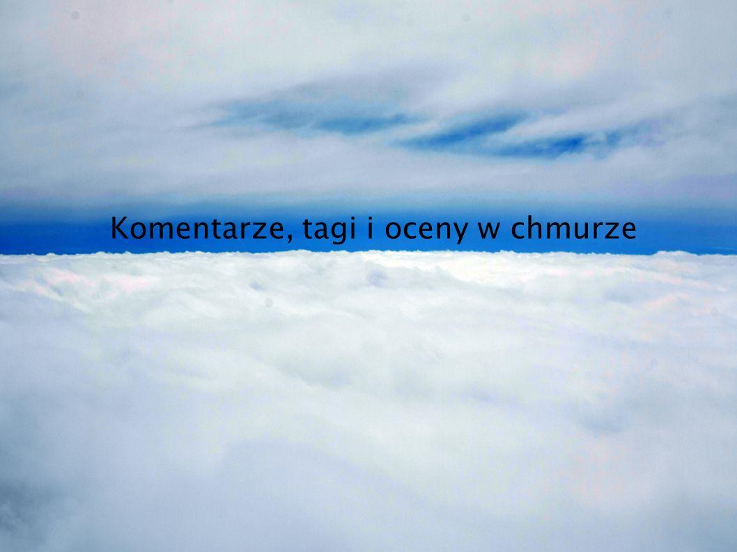 Komentarze, tagi i oceny w chmurze
