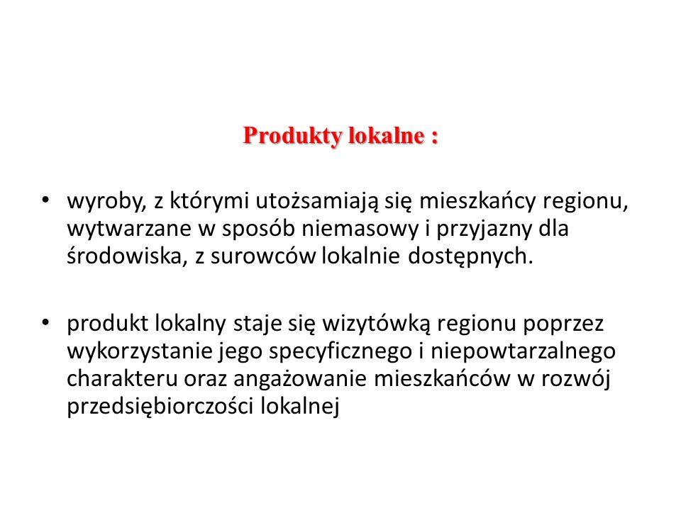 Produkty lokalne :