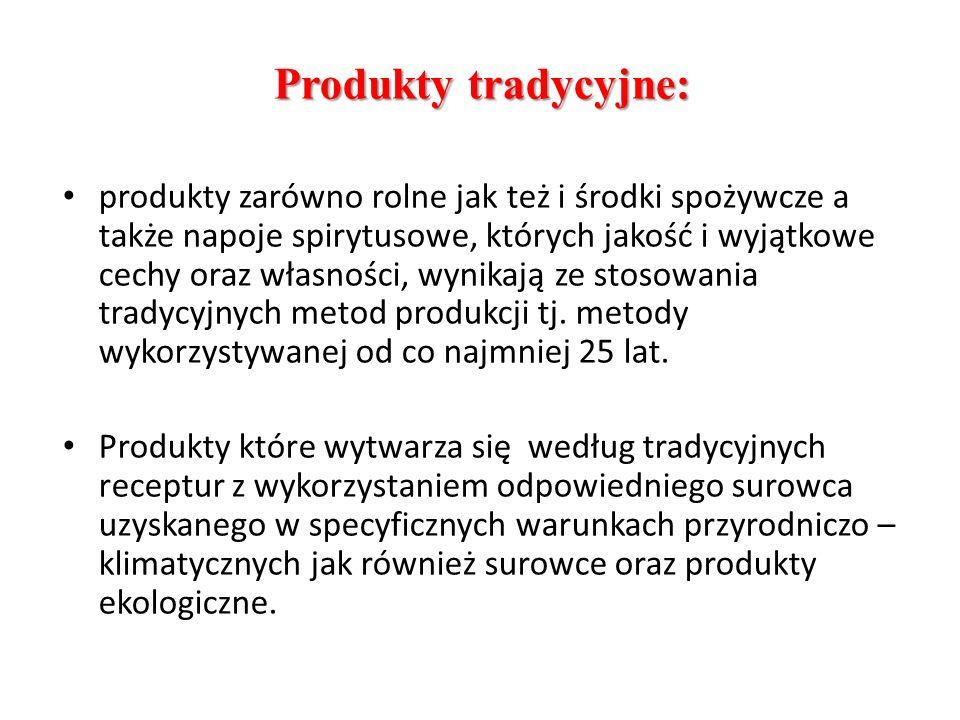Produkty tradycyjne: