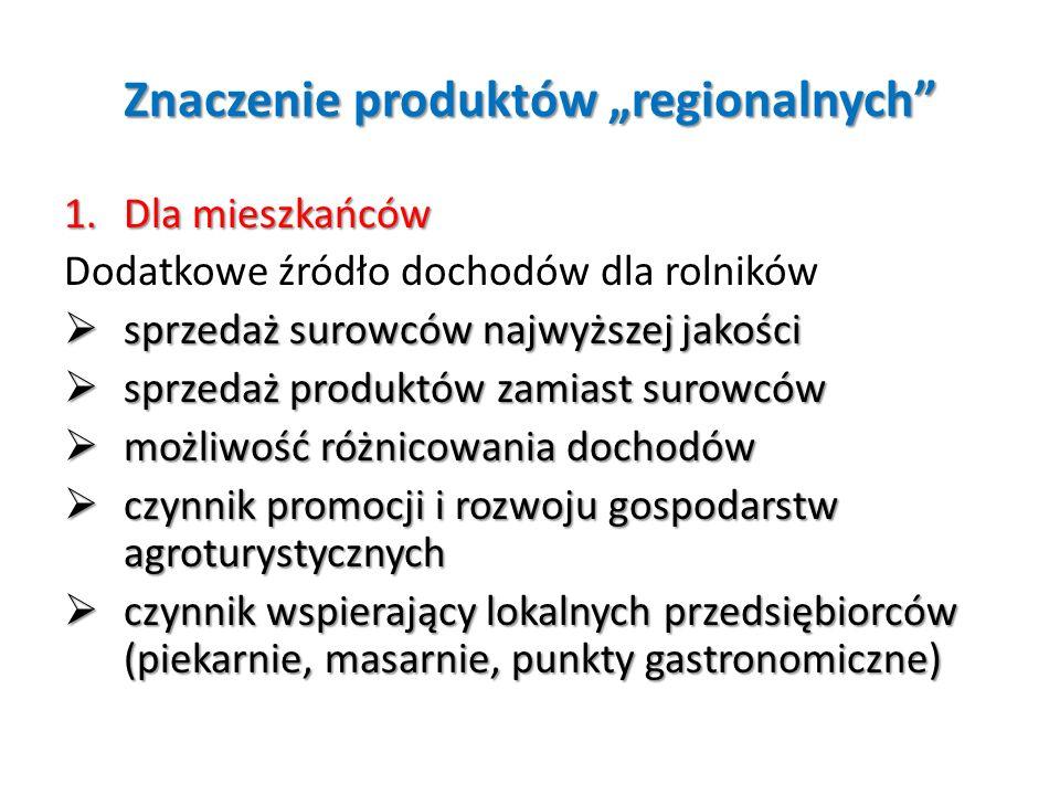 """Znaczenie produktów """"regionalnych"""