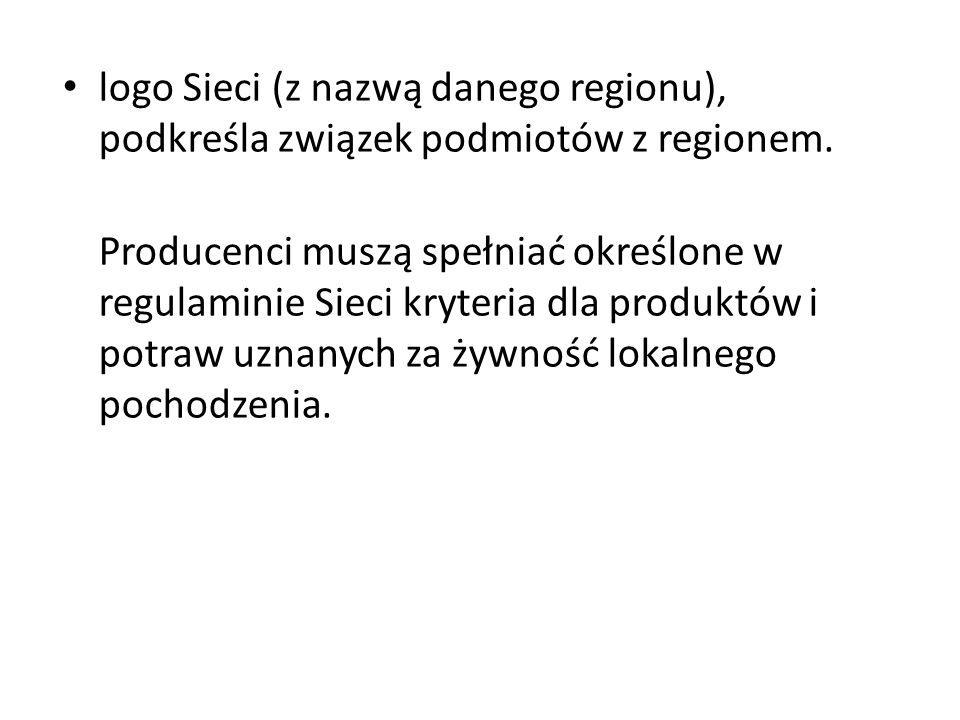 logo Sieci (z nazwą danego regionu), podkreśla związek podmiotów z regionem.