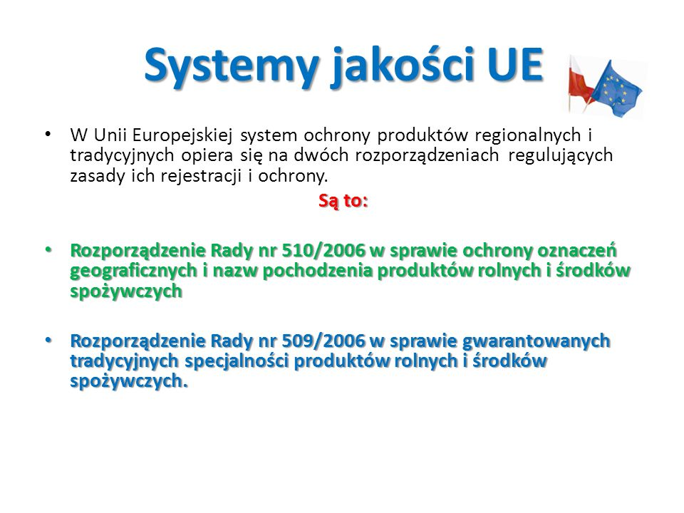Systemy jakości UE