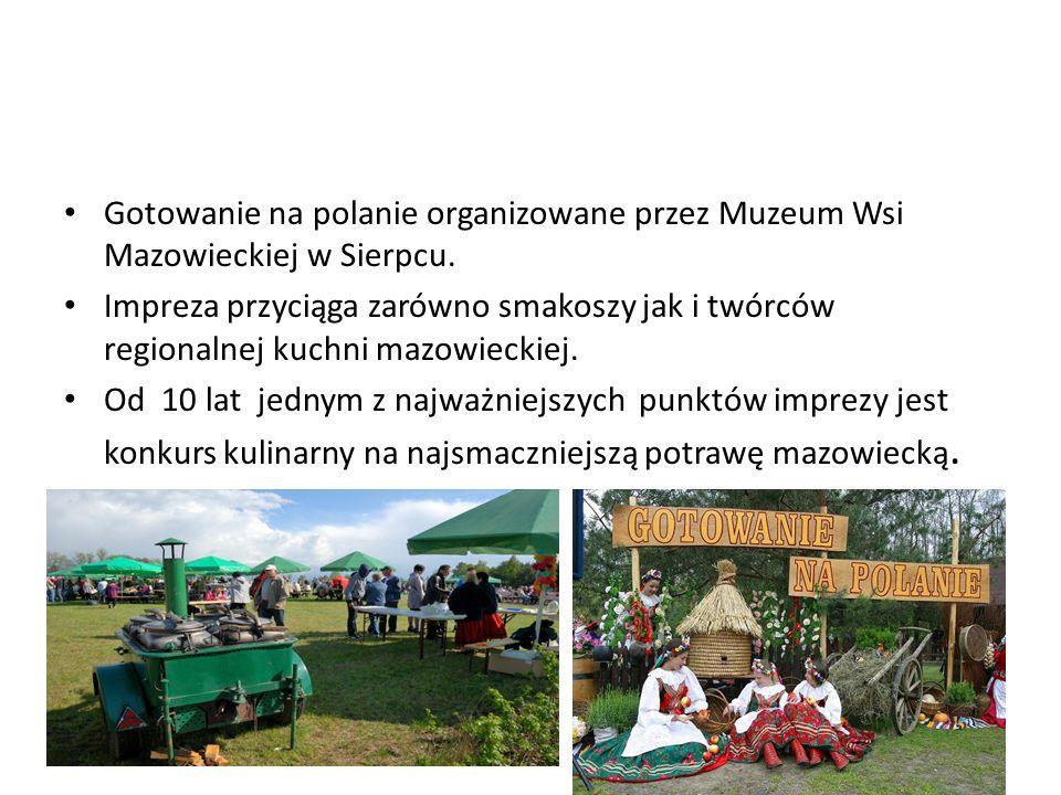 Gotowanie na polanie organizowane przez Muzeum Wsi Mazowieckiej w Sierpcu.