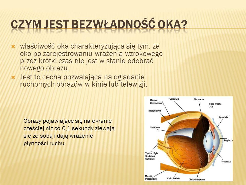 Czym jest bezwładność oka