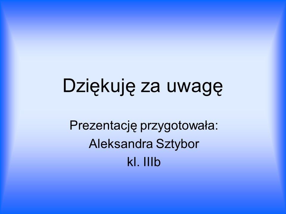 Prezentację przygotowała: Aleksandra Sztybor kl. IIIb