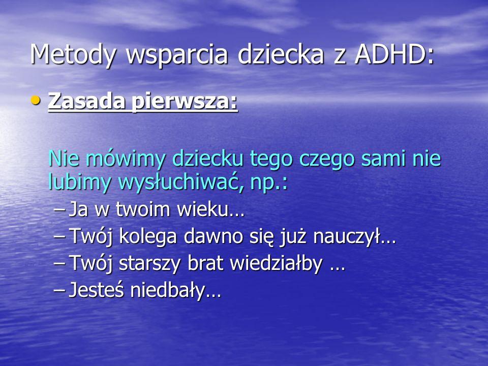 Metody wsparcia dziecka z ADHD: