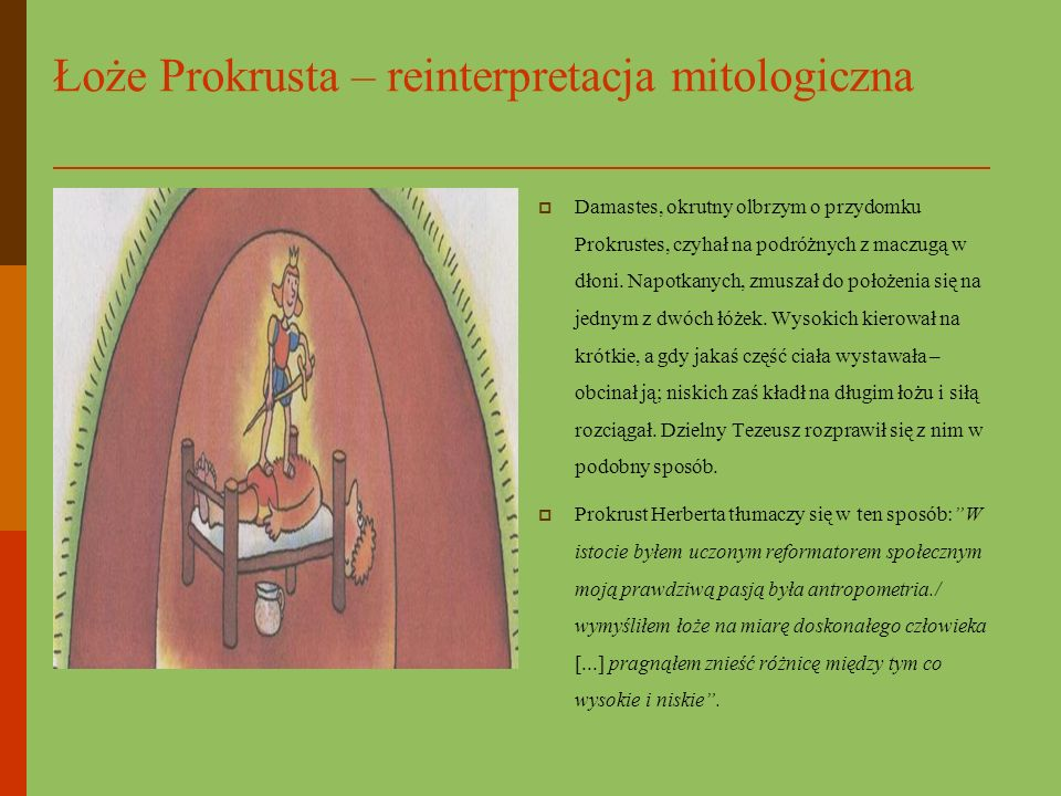 Łoże Prokrusta – reinterpretacja mitologiczna
