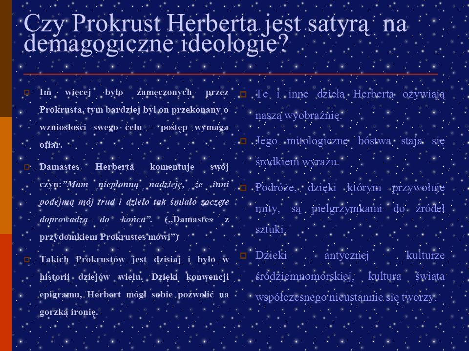 Czy Prokrust Herberta jest satyrą na demagogiczne ideologie
