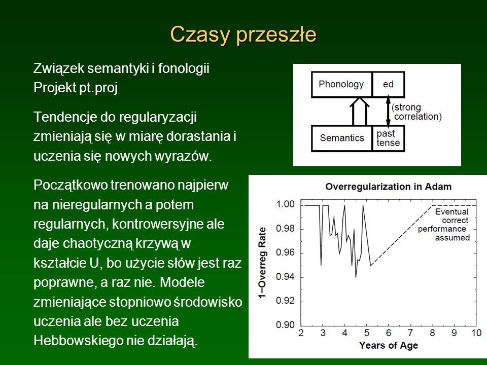 Czasy przeszłe Związek semantyki i fonologii Projekt pt.proj
