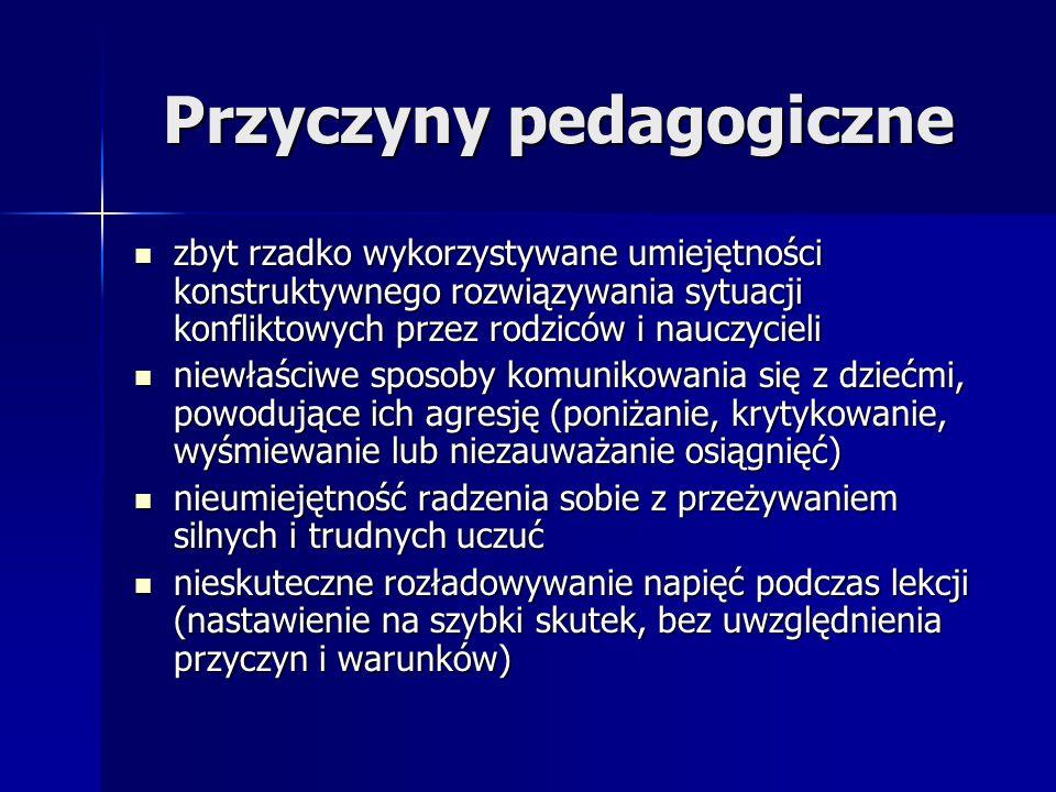 Przyczyny pedagogiczne