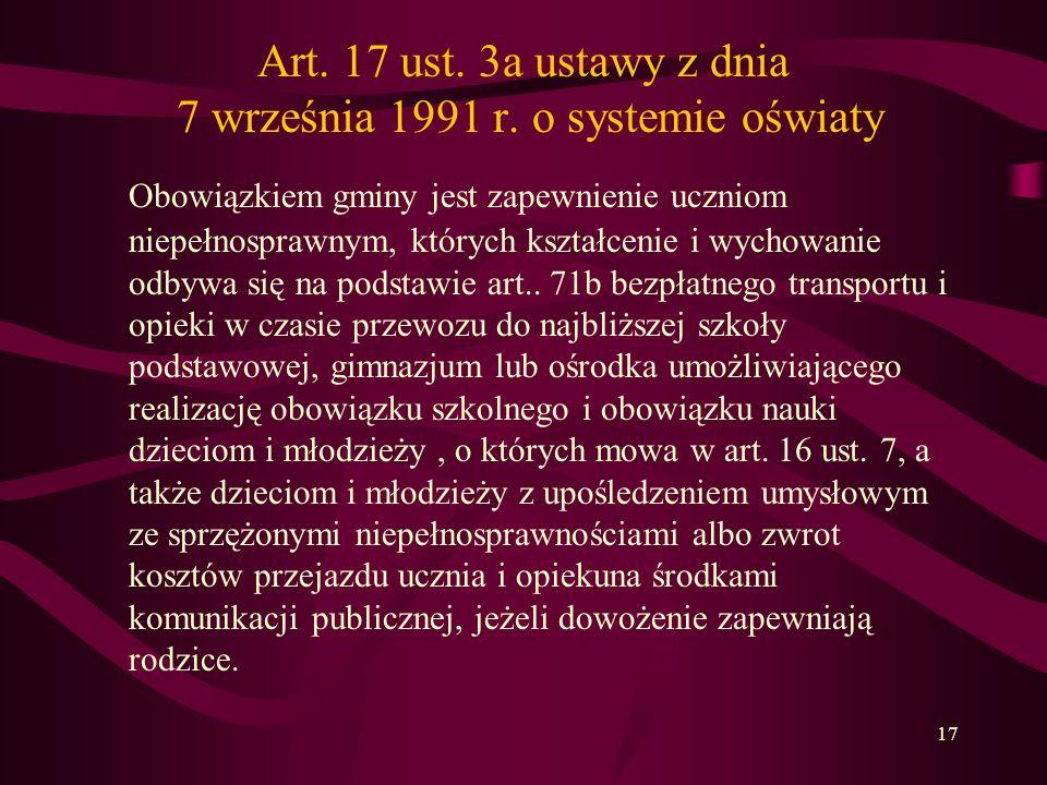 Art. 17 ust. 3a ustawy z dnia 7 września 1991 r. o systemie oświaty