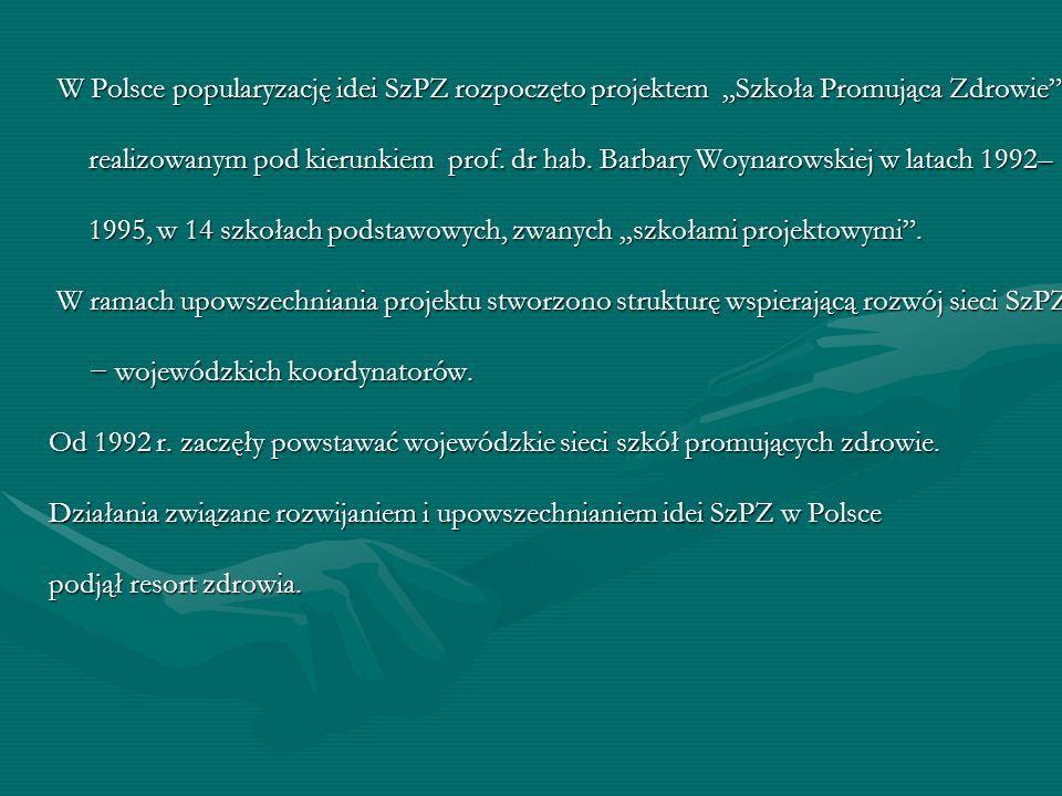 Działania związane rozwijaniem i upowszechnianiem idei SzPZ w Polsce