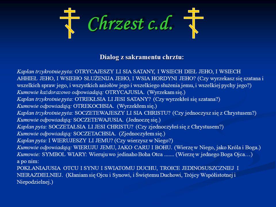 Chrzest c.d.