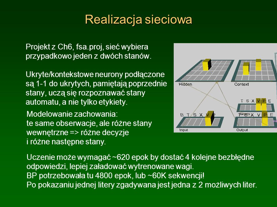 Realizacja sieciowa Projekt z Ch6, fsa.proj, sieć wybiera przypadkowo jeden z dwóch stanów.