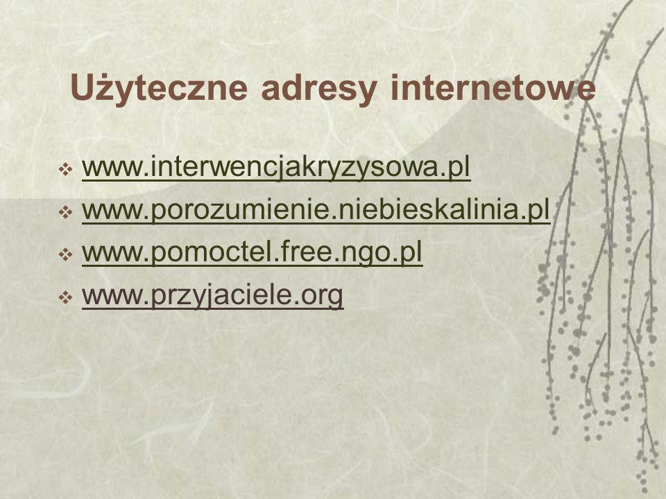 Użyteczne adresy internetowe