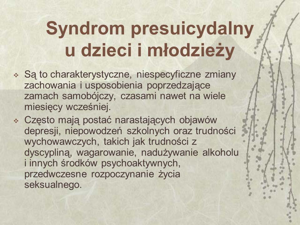 Syndrom presuicydalny u dzieci i młodzieży