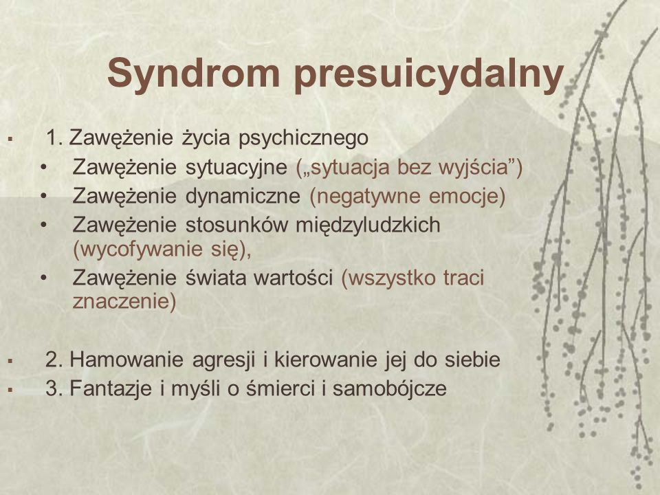 Syndrom presuicydalny