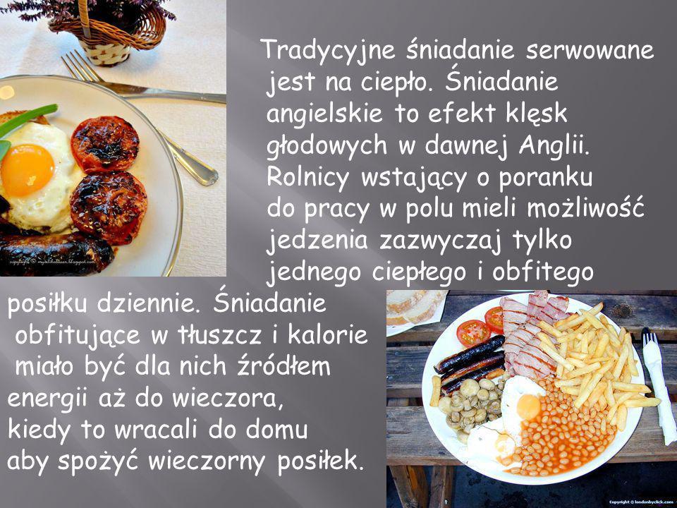 Tradycyjne śniadanie serwowane