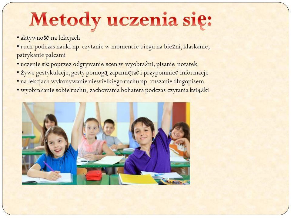 Metody uczenia się: aktywność na lekcjach