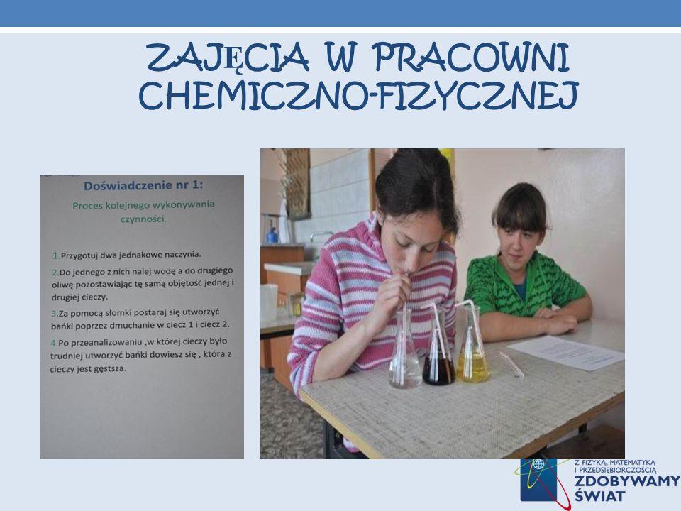 ZAJĘCIA W PRACOWNI CHEMICZNO-FIZYCZNEJ