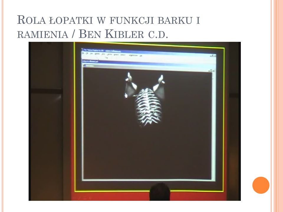 Rola łopatki w funkcji barku i ramienia / Ben Kibler c.d.