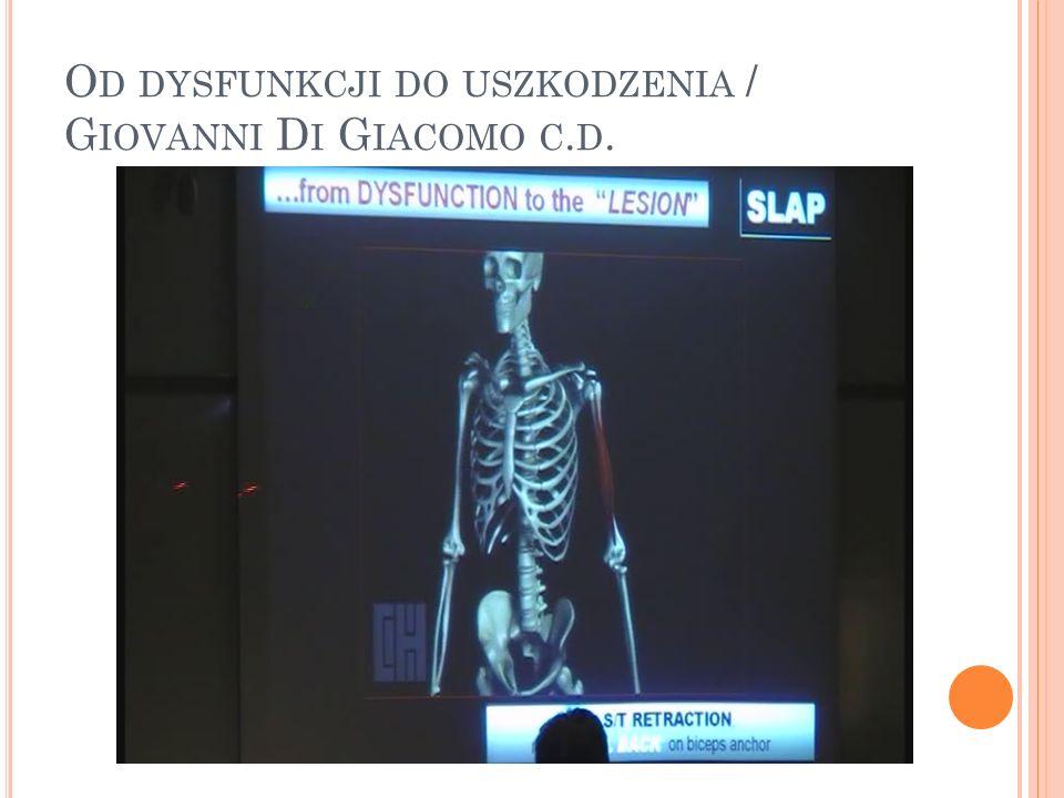 Od dysfunkcji do uszkodzenia / Giovanni Di Giacomo c.d.