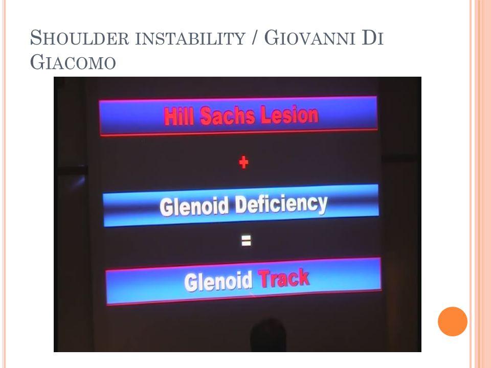 Shoulder instability / Giovanni Di Giacomo