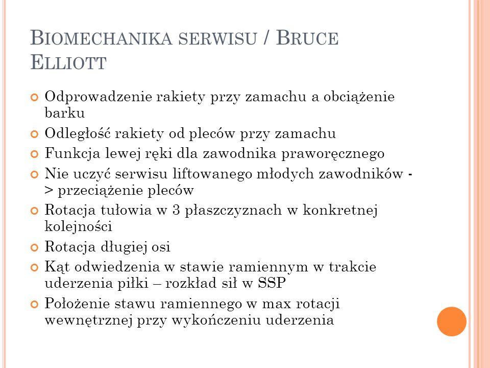 Biomechanika serwisu / Bruce Elliott