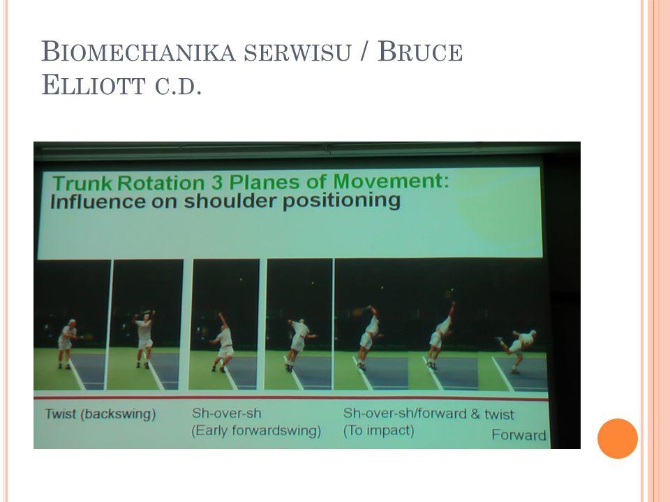 Biomechanika serwisu / Bruce Elliott c.d.