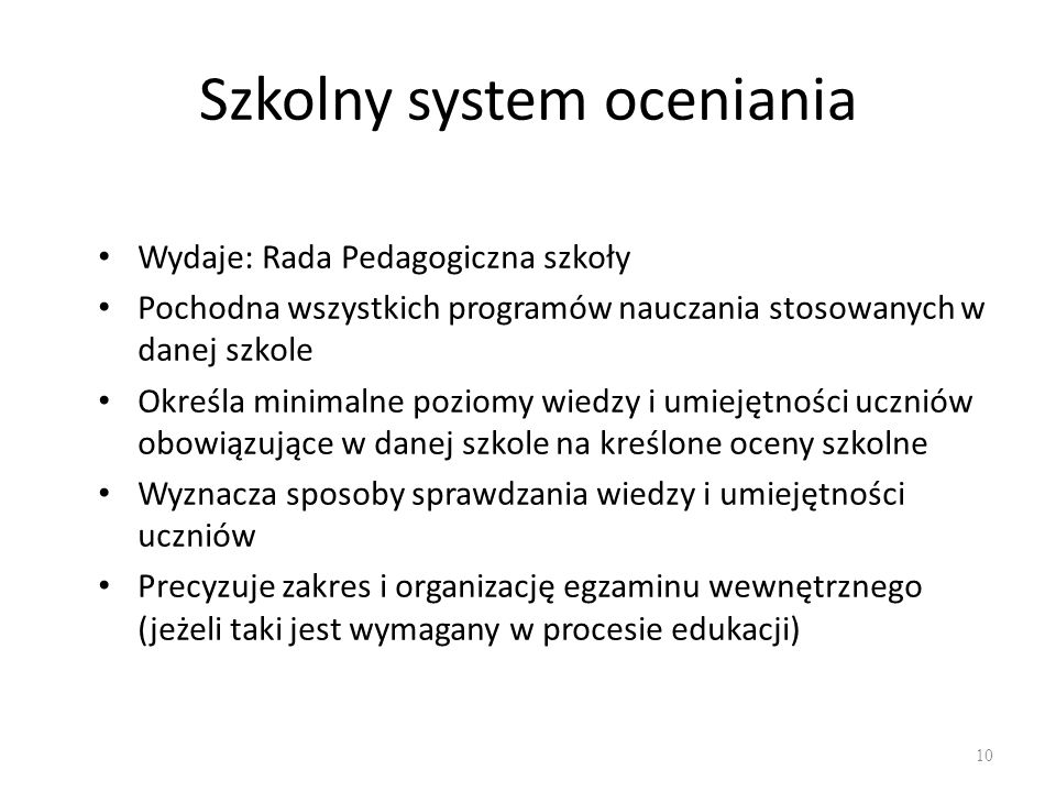 Szkolny system oceniania