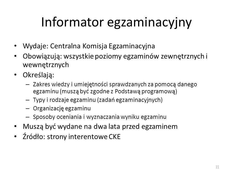 Informator egzaminacyjny
