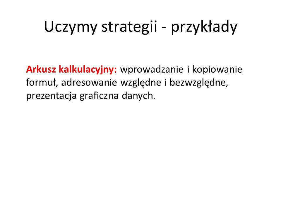 Uczymy strategii - przykłady