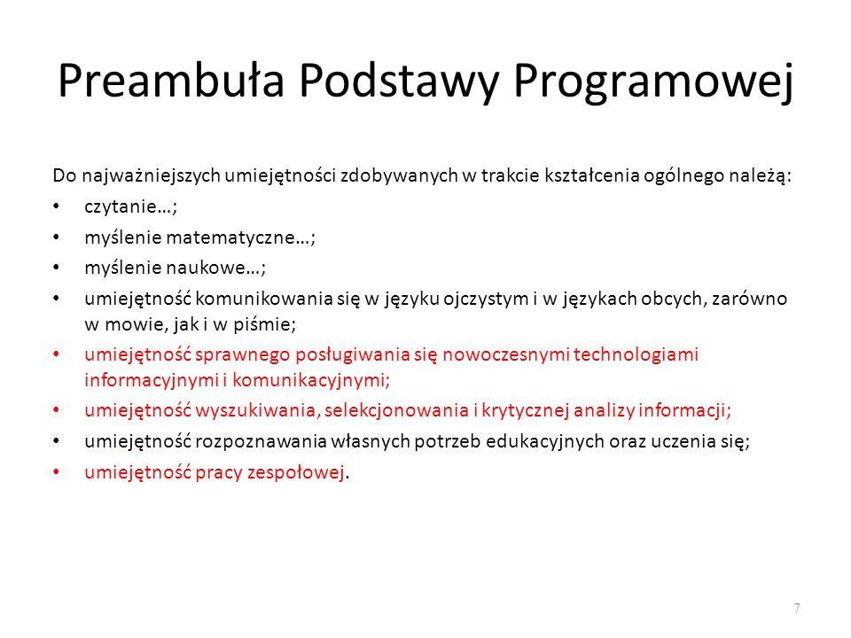 Preambuła Podstawy Programowej