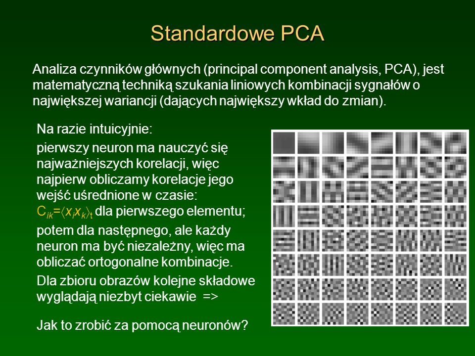 Standardowe PCA