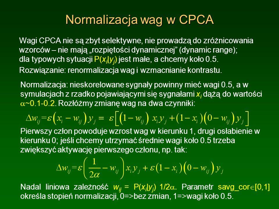 Normalizacja wag w CPCA