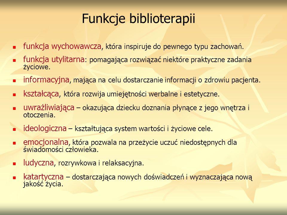 Funkcje biblioterapii