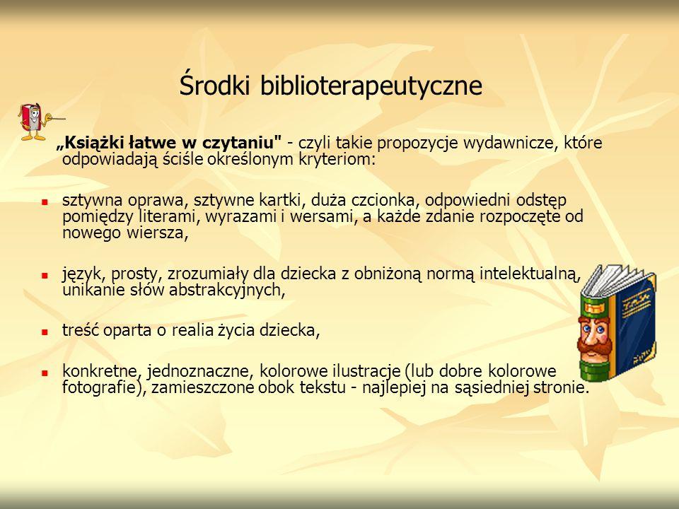 Środki biblioterapeutyczne