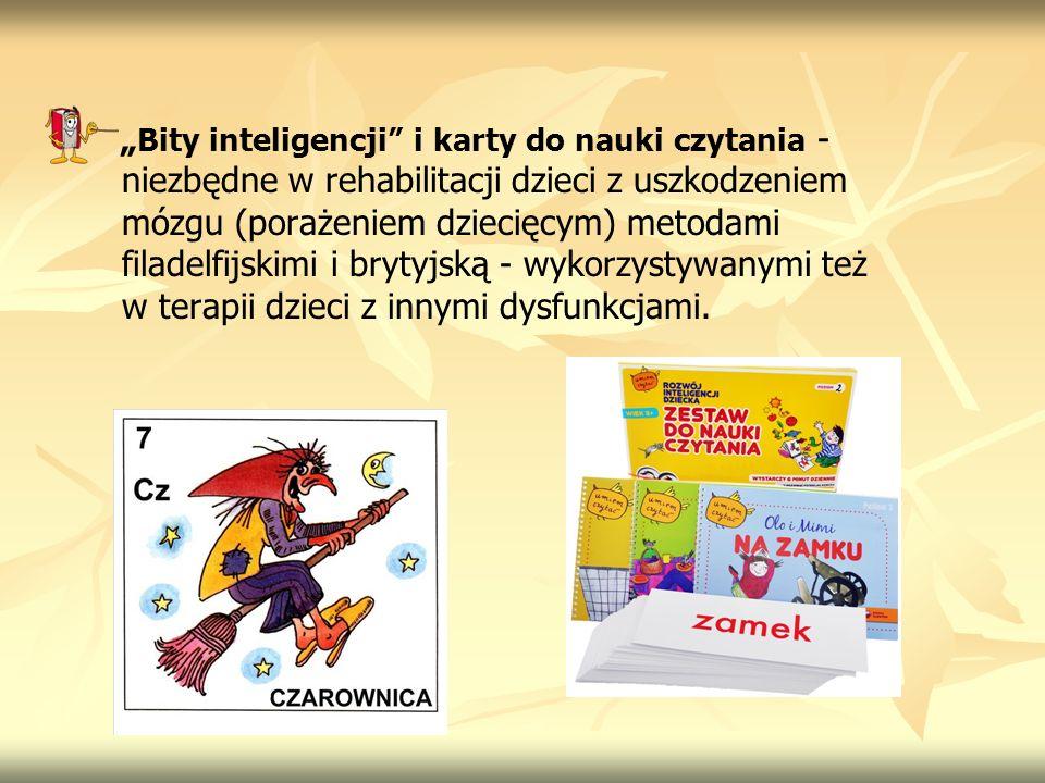"""""""Bity inteligencji i karty do nauki czytania - niezbędne w rehabilitacji dzieci z uszkodzeniem mózgu (porażeniem dziecięcym) metodami filadelfijskimi i brytyjską - wykorzystywanymi też w terapii dzieci z innymi dysfunkcjami."""