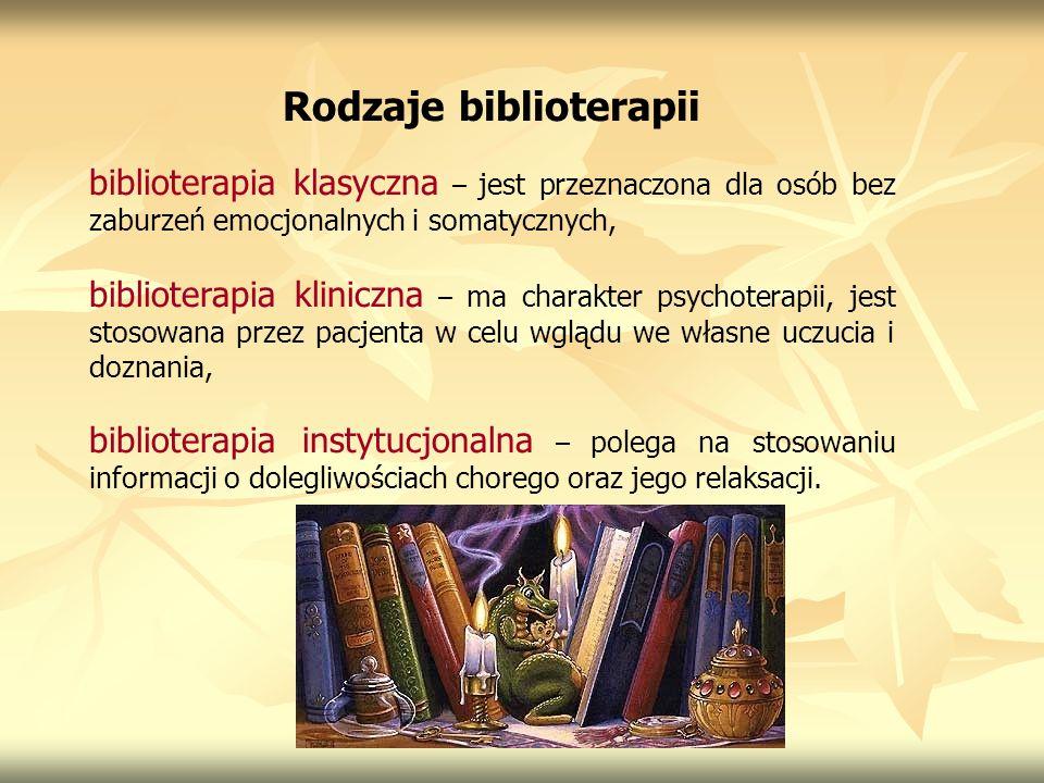 Rodzaje biblioterapii