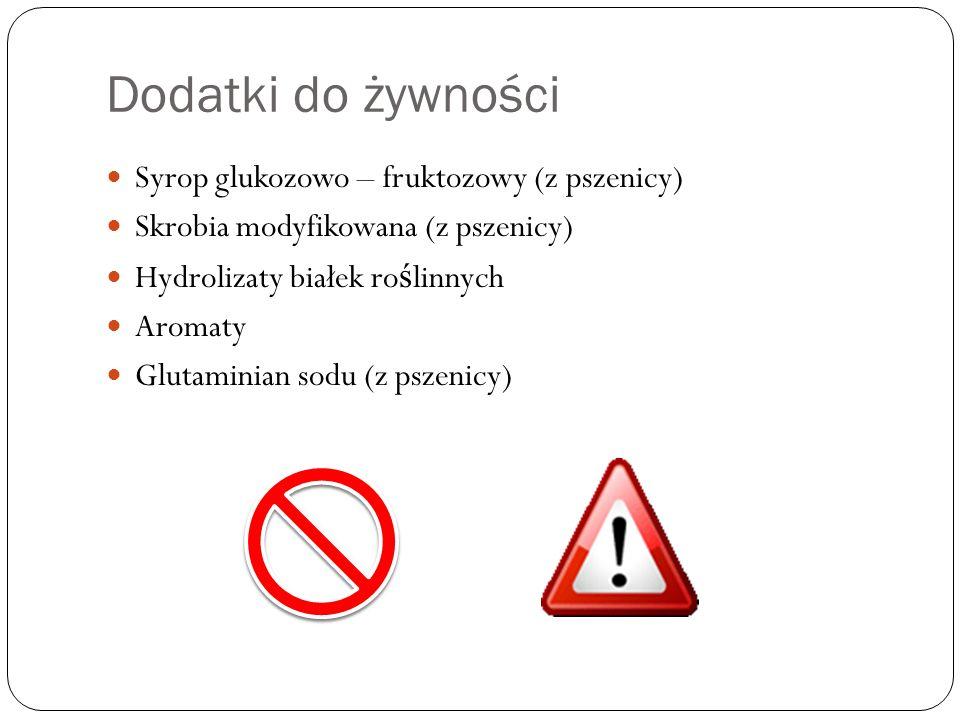 Dodatki do żywności Syrop glukozowo – fruktozowy (z pszenicy)