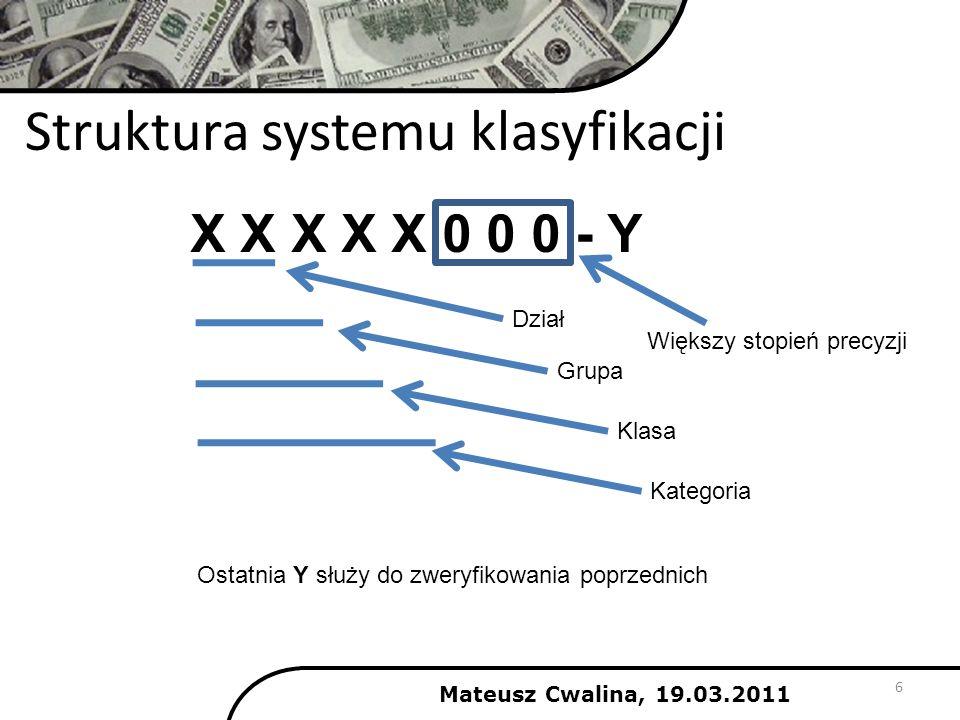 Struktura systemu klasyfikacji