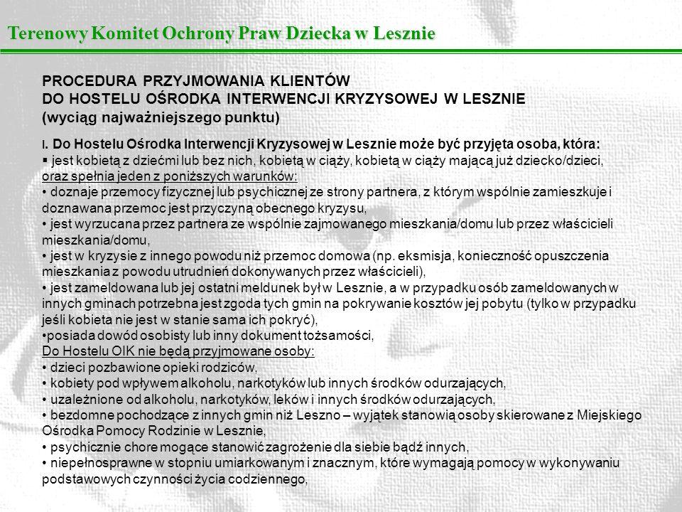 Terenowy Komitet Ochrony Praw Dziecka w Lesznie
