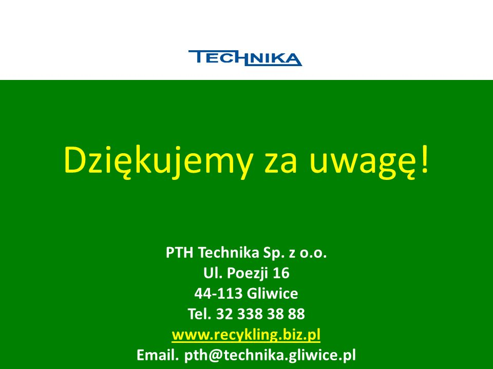 Email. pth@technika.gliwice.pl