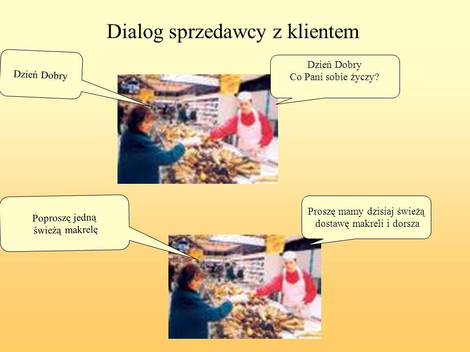 Dialog sprzedawcy z klientem