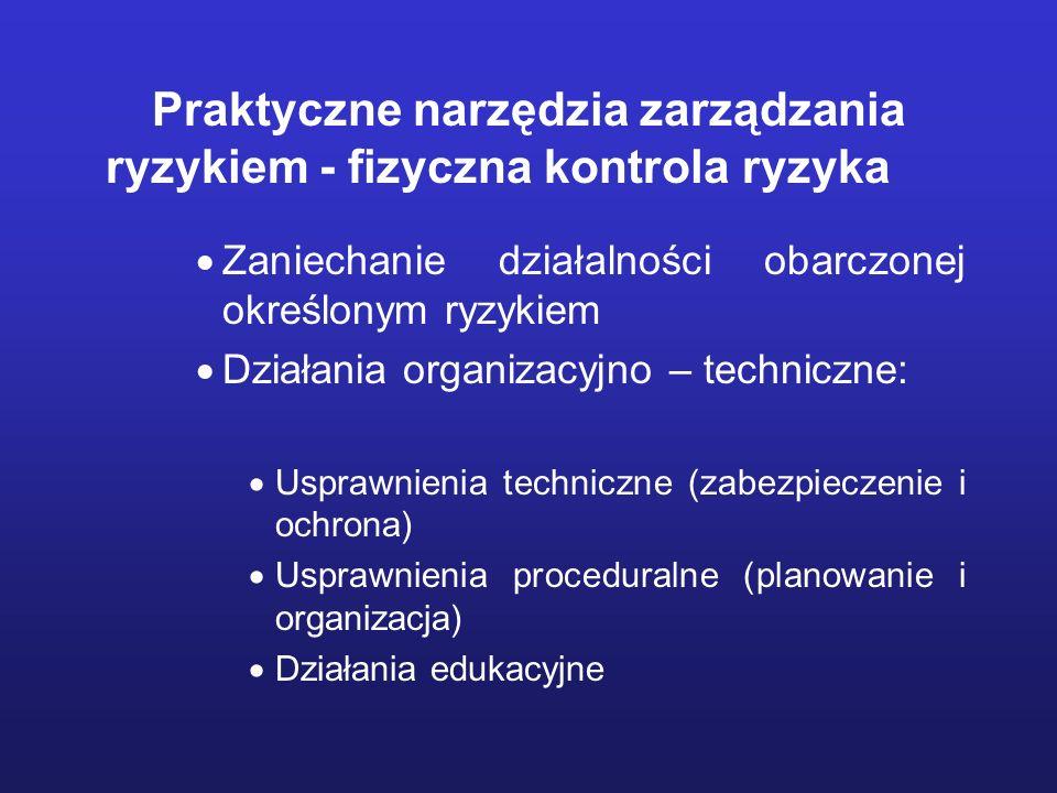 Praktyczne narzędzia zarządzania ryzykiem - fizyczna kontrola ryzyka