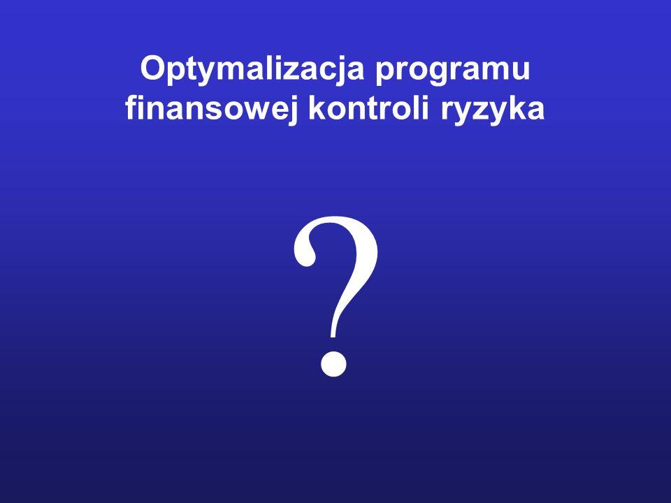 Optymalizacja programu finansowej kontroli ryzyka