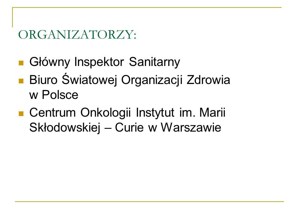 ORGANIZATORZY: Główny Inspektor Sanitarny