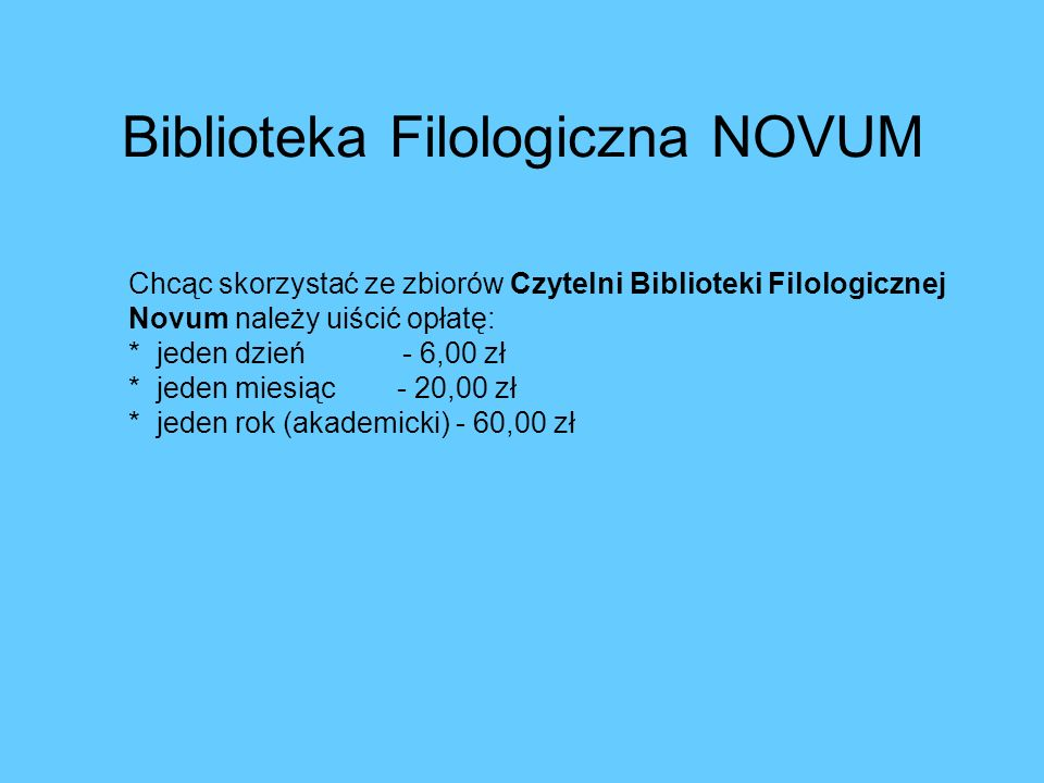 Biblioteka Filologiczna NOVUM
