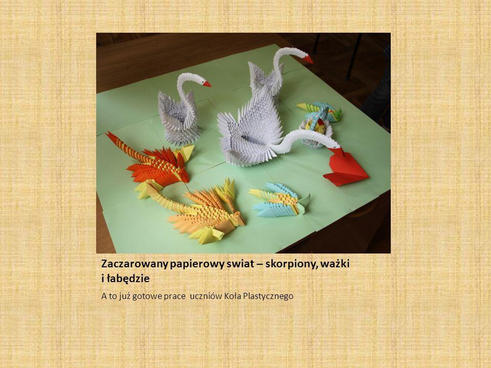 Zaczarowany papierowy swiat – skorpiony, ważki i łabędzie
