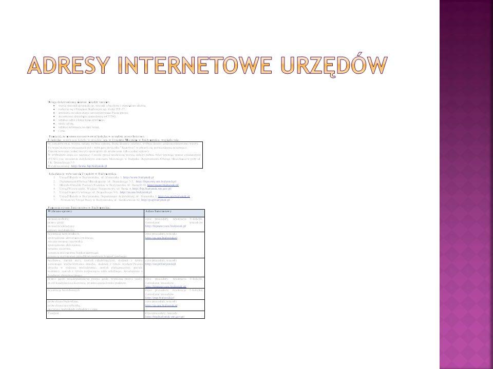 Adresy Internetowe Urzędów